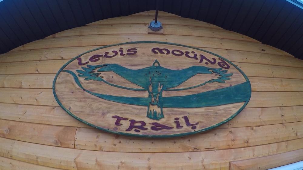 Levis Mound Trail Sign