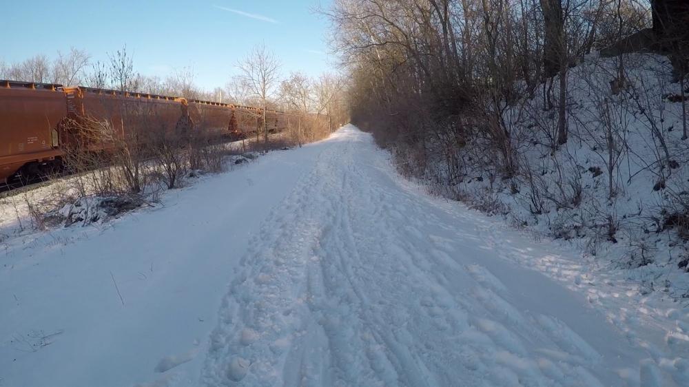 trudging thru snow