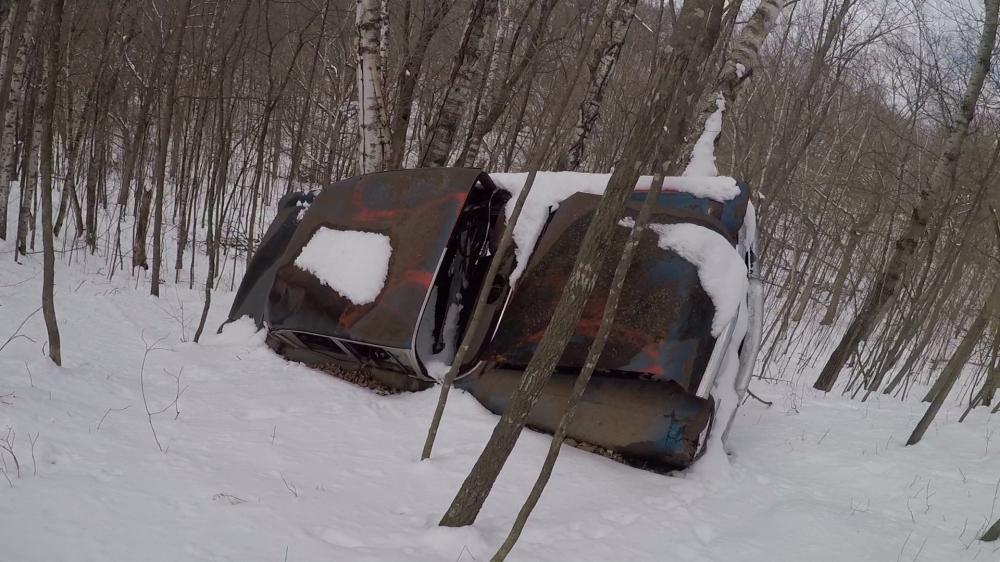 Car on side