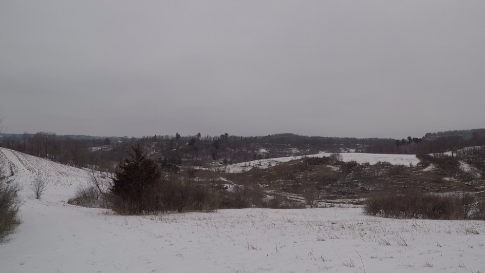 view from end of snowtrail