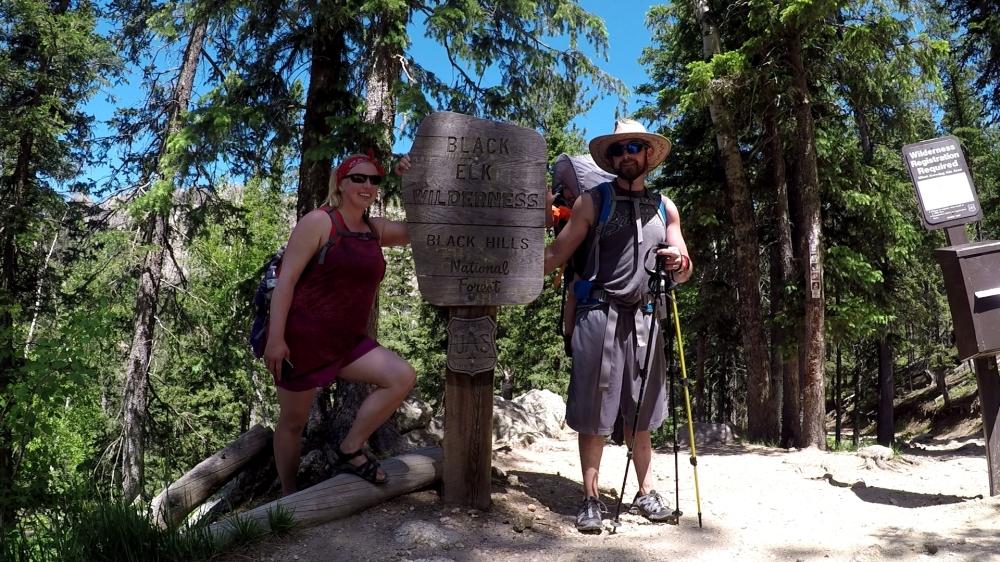 harney peak w sign